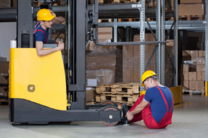 Forklift accident in california storehouse